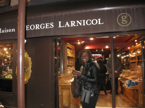 Angenette at Maison Georges Larnicol choclatiers in Paris.