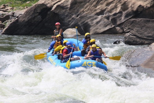 Dare Divas white water rafting