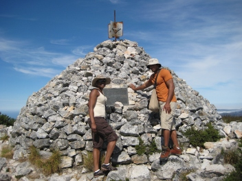 Lanell Gray and Angenette at Maclear's Beacon in South Africa.