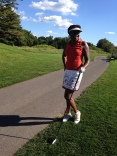 Angenette golfing