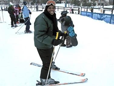 Brenda Skiing Boyne Mountain