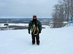 Brenda Jegede Ziplining Boyne Mountain
