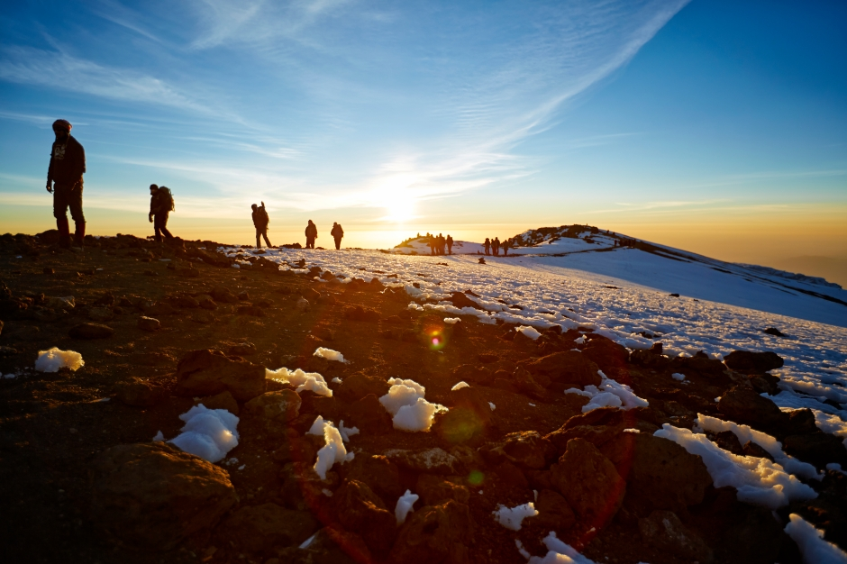 Mt Kilimanjaro route to the summit