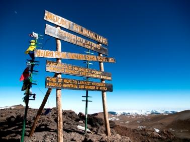 Top of Mt. Kilimanjaro - Uhuru Peak, 5895 m