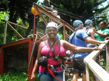 Brenda St Lucia ziplining