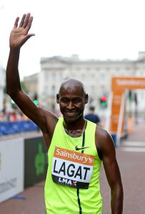 LONDON, ENGLAND - JULY 20: Bernard Lagat of The USA celebrates winning the Men's 2 Mile during the Sainsbury's Anniversary Games at Horse Guards Parade on July 20, 2014 in London, England. (Photo by Ben Hoskins/Getty Images)